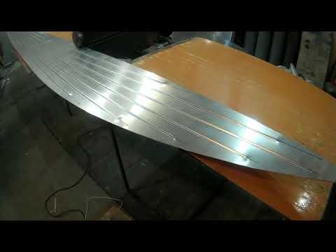 Процесс изготовления алюминиевой лодки
