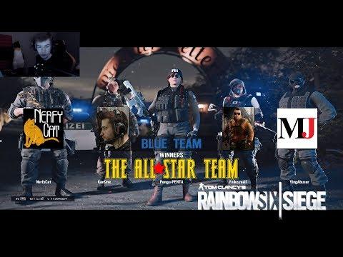 AllStars R6S Team Stream Highlights PenguPENTA, Falko, Kanine, Macie Jay, Nerfy Cat