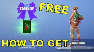 HOW TO GET NEW FREE COMBAT WREATH BACKBLING! (14 Days Of Fortnite Challenge 5)