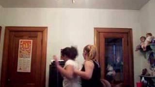 Leigha and Shawna dancing