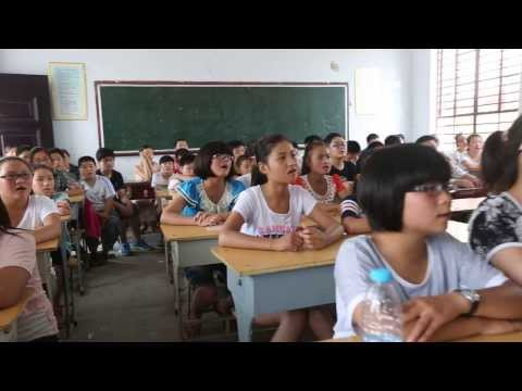 "China middle school students sing ""Take Me Home, Country Roads"""
