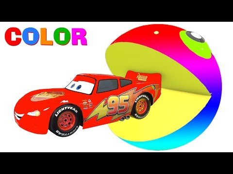 Thumbnail: COLOR McQueen & PACMAN in 3D Cars Cartoon for Kids and Colors for Children Fun Video