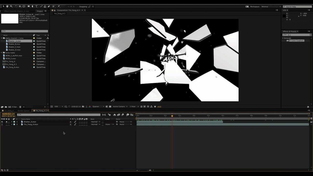 How to use Black and White Luma Mattes & Alpha Channels on Video ...