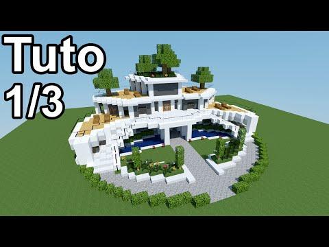 Minecraft tutoriel - Maison moderne ! 1/3 - YouTube