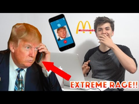 PRANK CALLING MCDONALDS WITH *DONALD TRUMP VOICE*