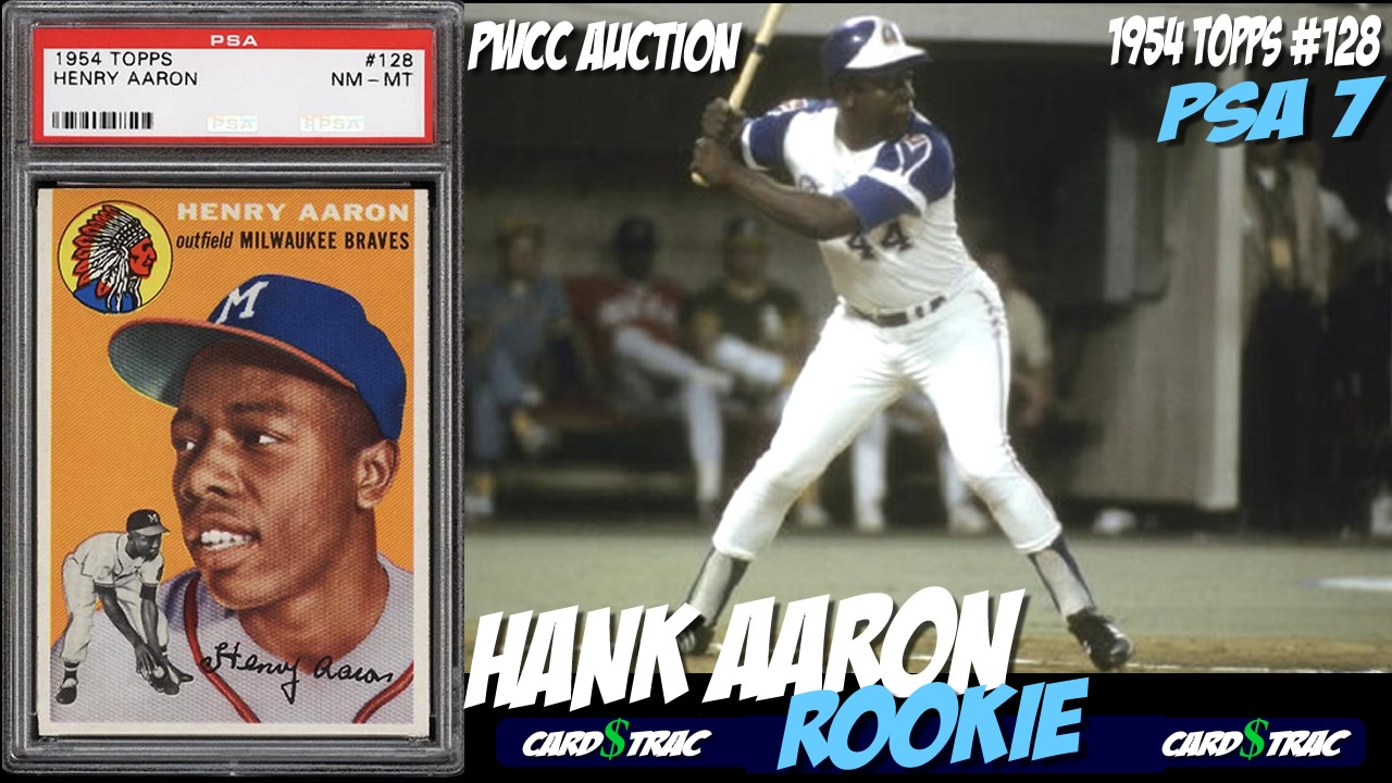 1954 Hank Aaron Topps 128 Rookie Card For Sale Graded Psa 7 Pwcc Auctions