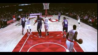 DeMarcus Cousins elbow to Al Horford: Atlanta Hawks vs. Sacramento Kings