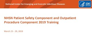 2019 nhsn training - antimicrobial ...