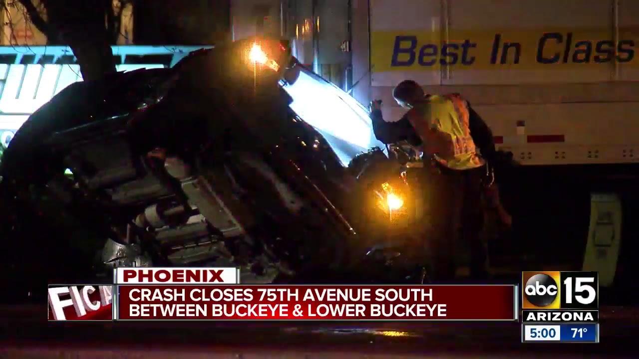Crash closes 75th Ave/Buckeye Sunday morning