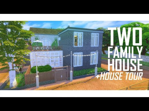 THE SIMS 4  Two Family House  House Tour