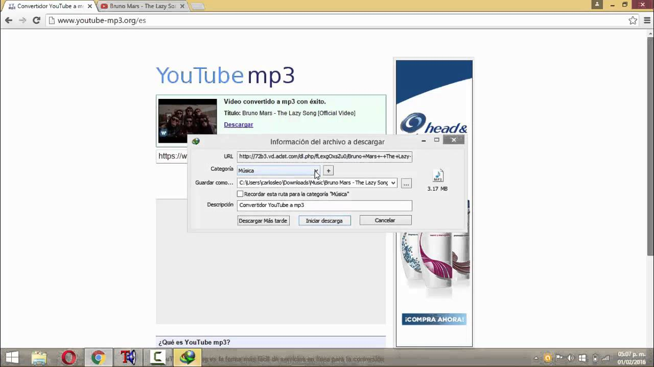 convertidor youtube musica mp3 gratis y facil