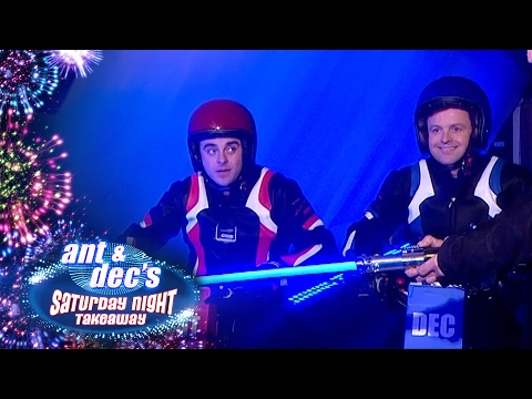 Ant V Dec: Electric Motorcycle Race Around ITV Studios! - Saturday Night Takeaway
