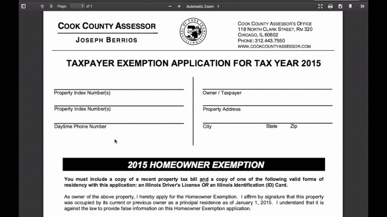 Applying for your Homeowner's Exemption - YouTube