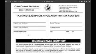 Applying for your Homeowner's Exemption