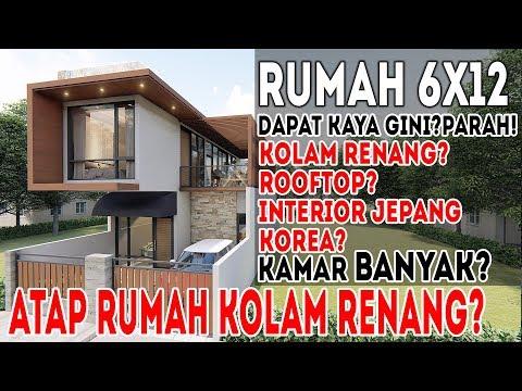Desain Rumah 6x12, Semua Fasilitas Di Hotel Masuk Rumah Ini?Parah!!