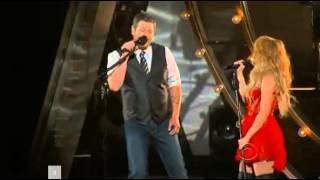 shakira medicine live at the country music awards with blake shelton