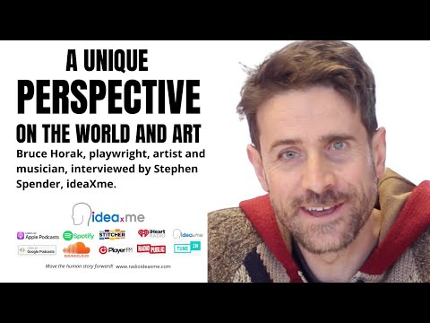 Bruce Horak, playwright, artist and musician with only 9% vision!