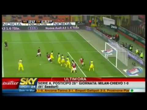 Milan-Chievo 1-0 - 14/3/10  Sintesi Sky Sport  - Serie A 2009/10