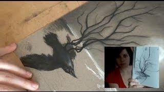 "Charcoal Drawing № 29: ""Rebirth"""