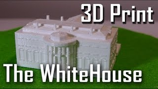 3D Print Time-lapse Of The WhiteHouse On The Ultimaker 2