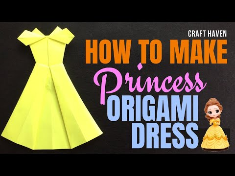 How to Make Origami Dress - Easy Origami DIY Princess Paper Dress