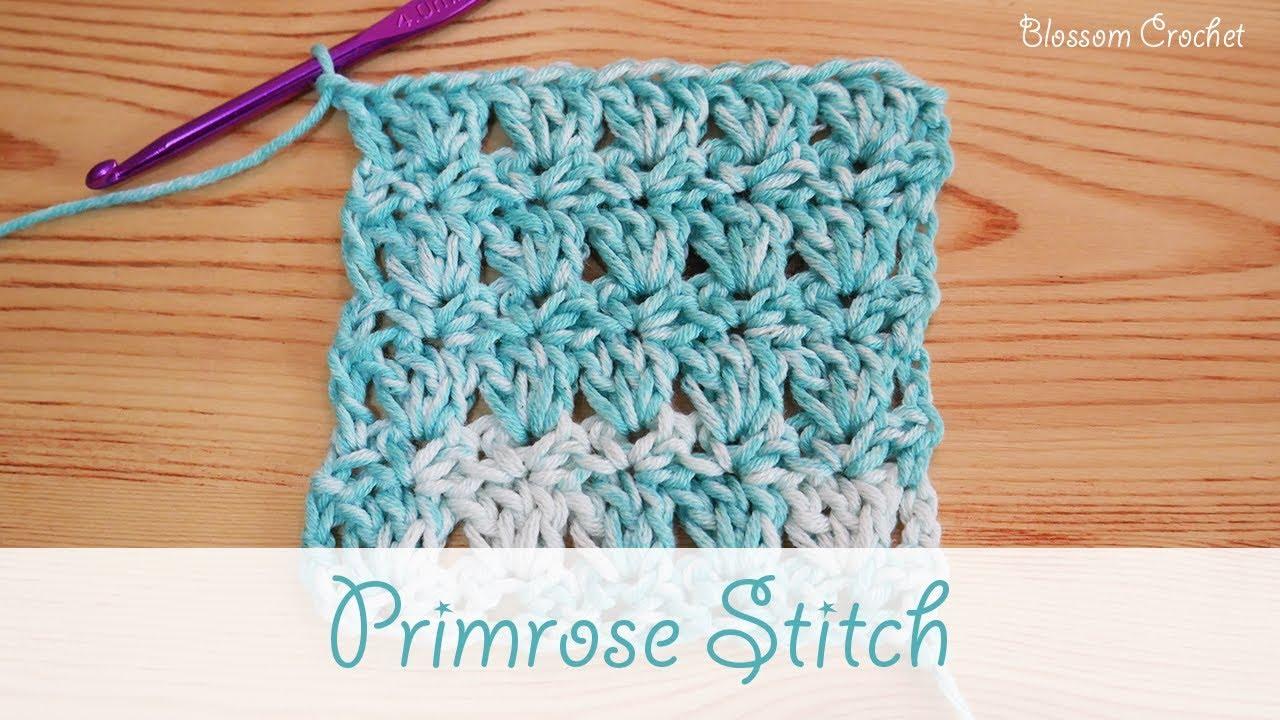 Easy crochet: Primrose Stitch (scarves, blankets) - YouTube