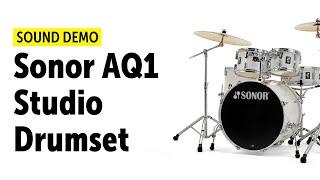 Sonor AQ1 Studio Drumset Sound Demo