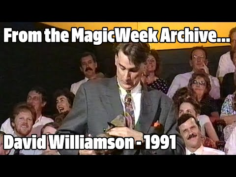 David Williamson - Magician - Magic Comedy Hour - September 1991 - MagicWeek.co.uk