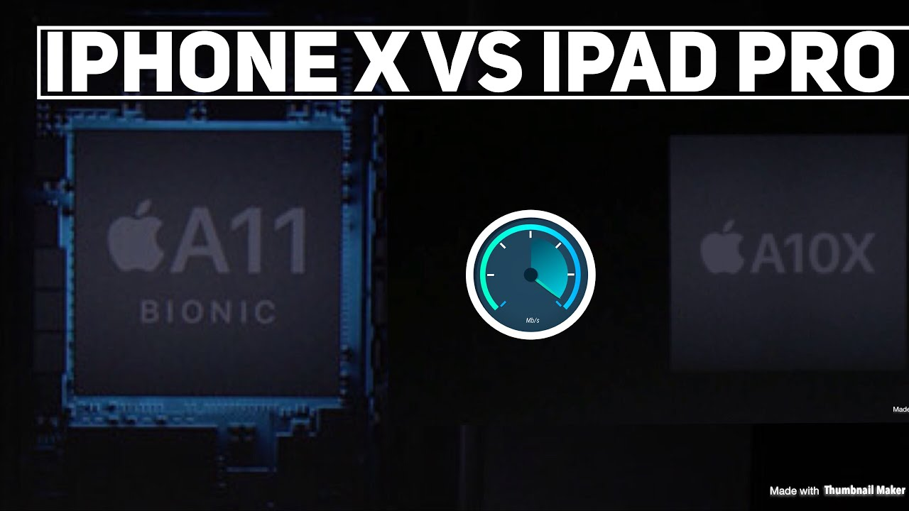 Iphone X vs Ipad Pro speed test