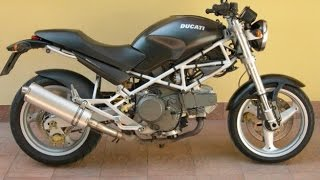 Ducati Monster 900 exhaust sound and fly by