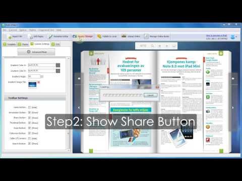 PUB HTML5 Tutorial Share Online Digital Magazine To Social Networks