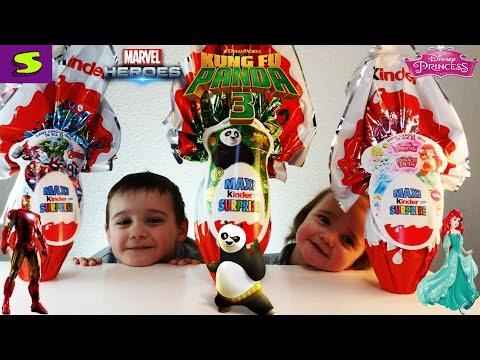 Кунг Фу Панда 3 Kinder  MAXI Surprise Disney Princess Marvel Avengers Assemble
