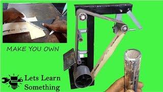 HOMEMADE BELT SANDER || Let's Learn Something