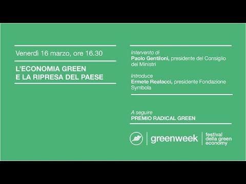 greenweek | L'ECONOMIA GREEN E LA RIPRESA DEL PAESE