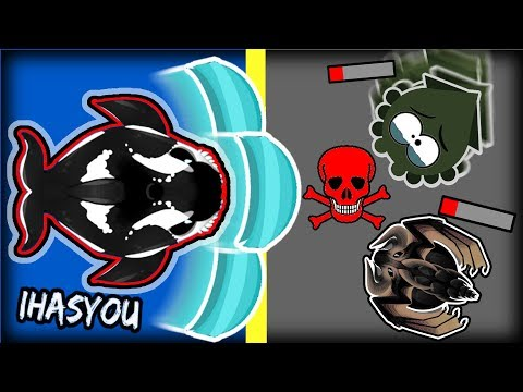MEGA-PUSH ABILITY!!MOPE.IO  HD ORCA EMPTIES THE OCEAN!! PUSHED EVERYONE OUT!!