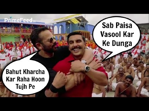 Simmba - Ranveer Singh And Rohit Shetty Funny Moments On Set