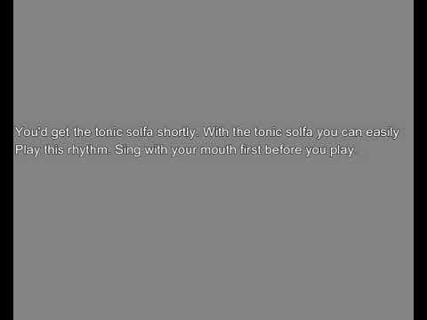 Makossa/ Soukous rhythm solfa 7