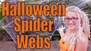 How To Put Up Halloween Spider Web Decorations