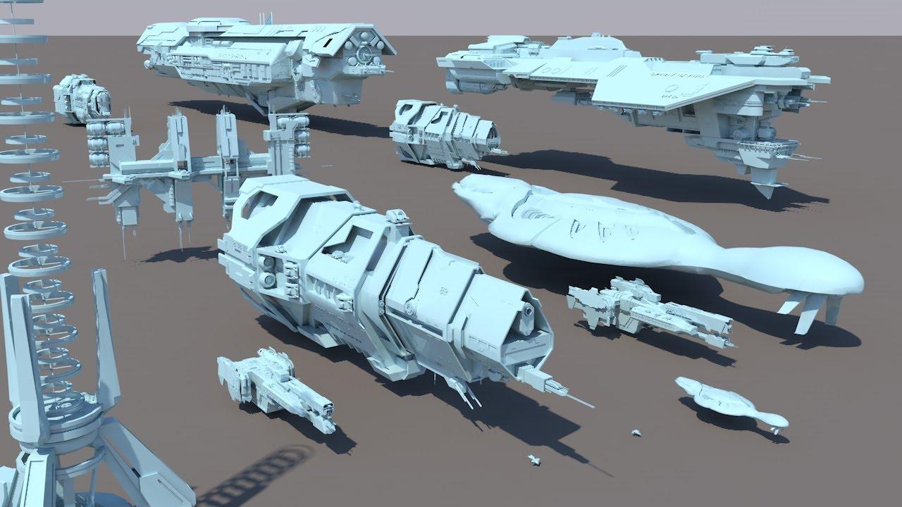 Starships size comparison Halo YouTube
