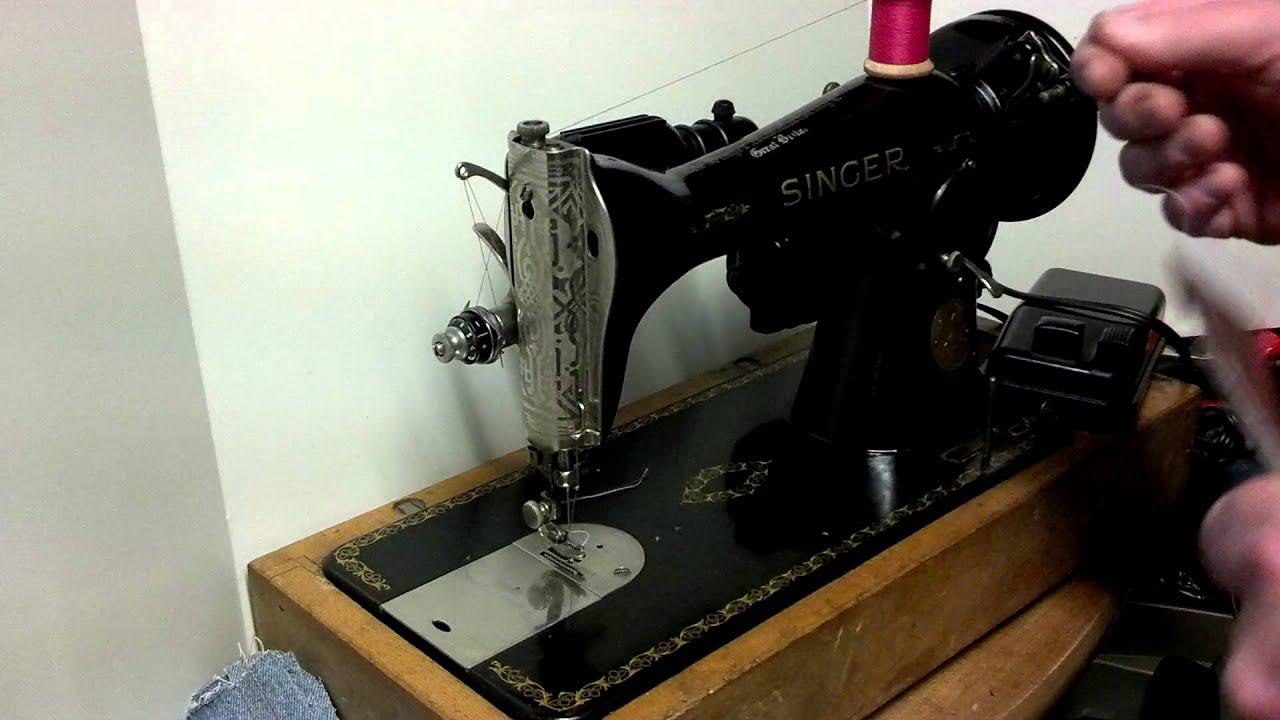Serviced Vintage 1948 Singer 15K88 Sewing Machine EE730367