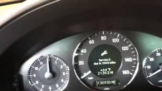 how to reset service light on 07 mercedes e350