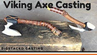 Trash To Treasure  VIKING AXE CASTING From Scrap Metal  Aluminium Lost Foam Casting