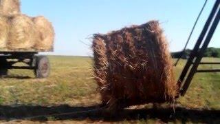 Крутой погрузчик сена и тюков своими руками  Погрузка тюков, 2-ой ряд