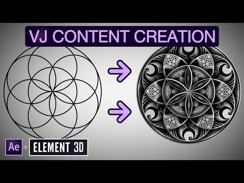 How To Create VJ Loops In The OrnaMental Style - A Step-by-step After Effects & Element 3D Tutorial
