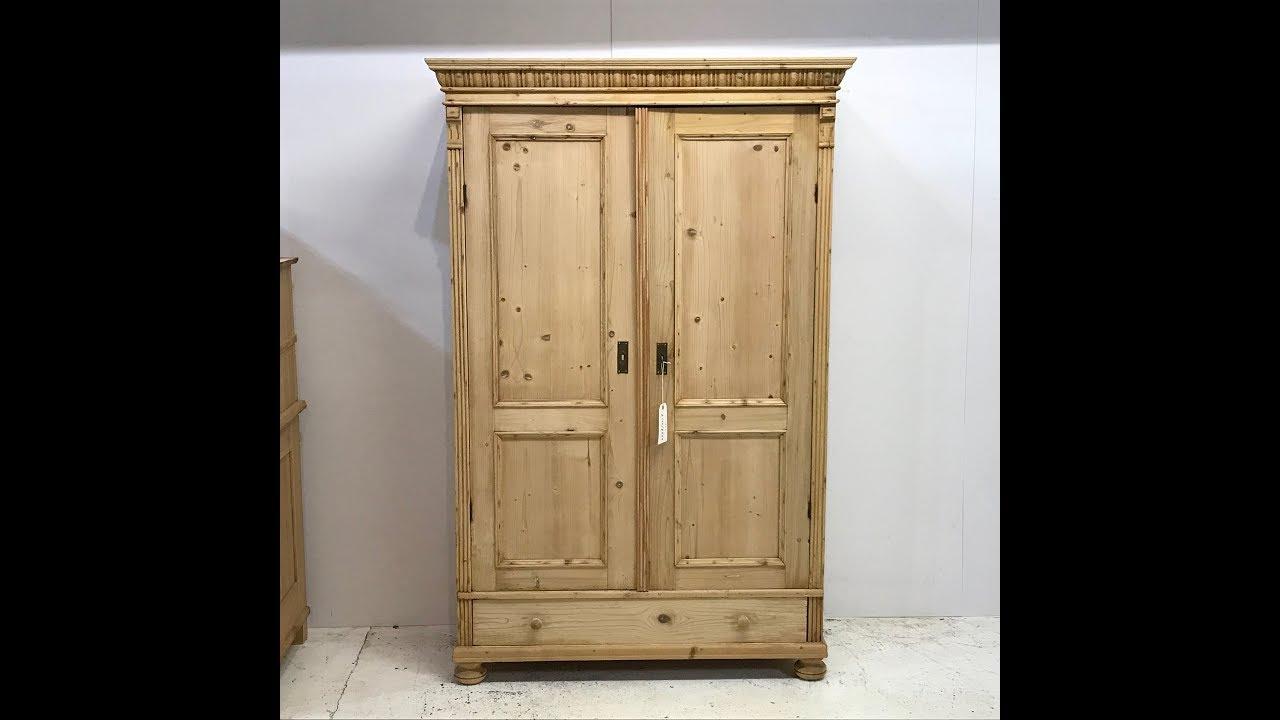Attractive Antique Pine Cupboard - Pinefinders Old Pine Furniture Warehouse - Attractive Antique Pine Cupboard - Pinefinders Old Pine Furniture