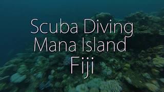 Fiji, GoPro Scuba dive coral reefs off Mana Island.
