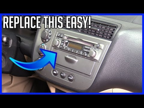 How to Replace Head Unit Radio Honda Civic 2001-2005 EASY!