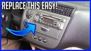 How to Replace Head Unit Radio Honda Civic 2001-2005 EASY!