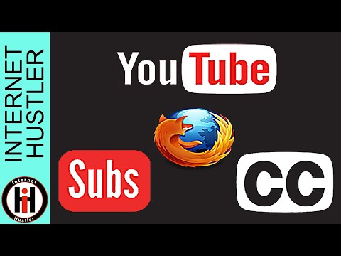 How To Extract Subtitles Closed Captions From YouTube Videos Firefox