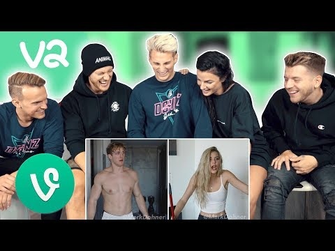 REACTING TO OUR OLD FUNNY VINES! *Challenge*